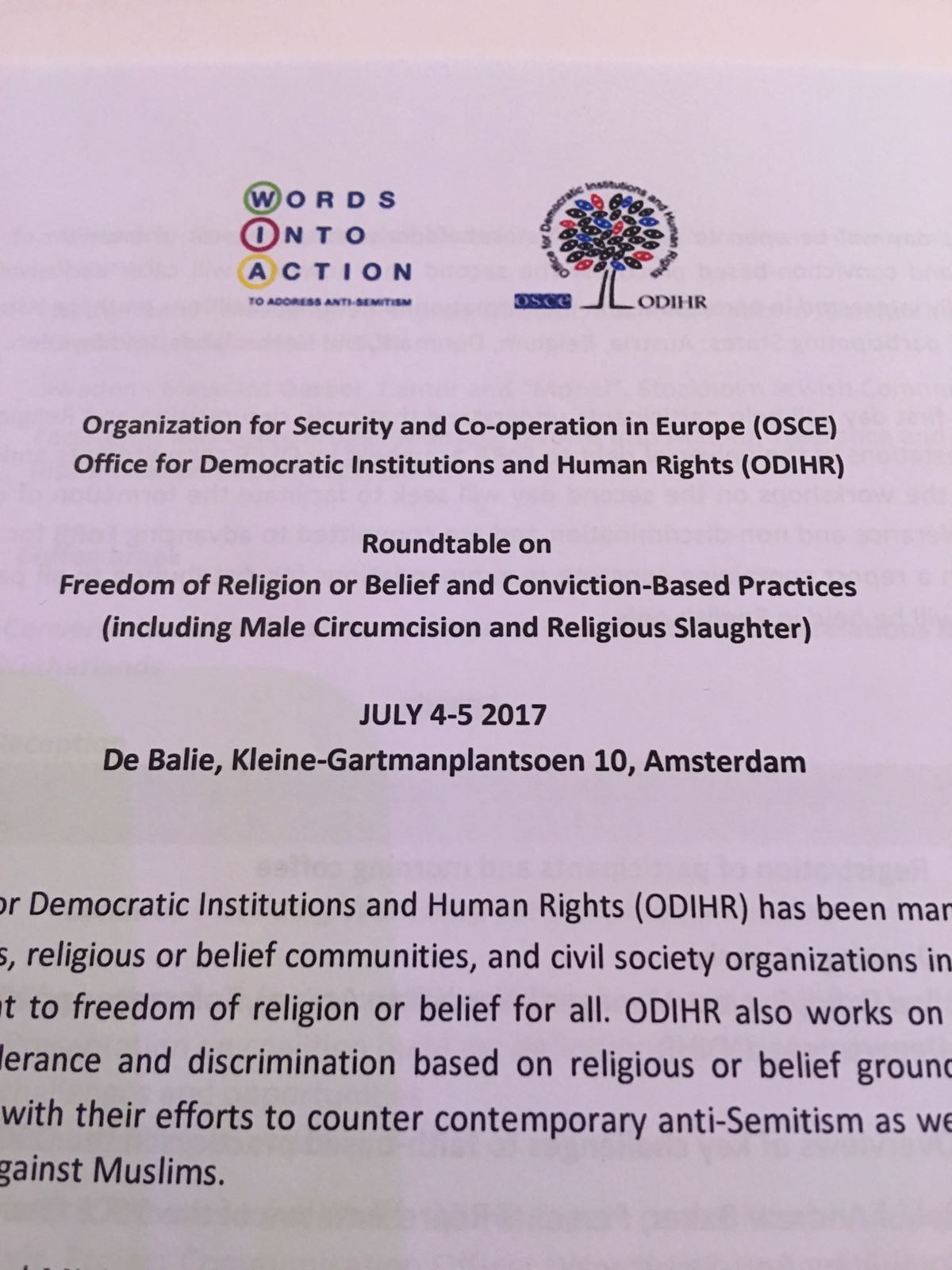 FIFS deltar i europeisk konferens kring manlig omskärelse och religiös slakt