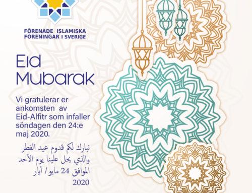 Uttalande med anledning av Eid al-fitr