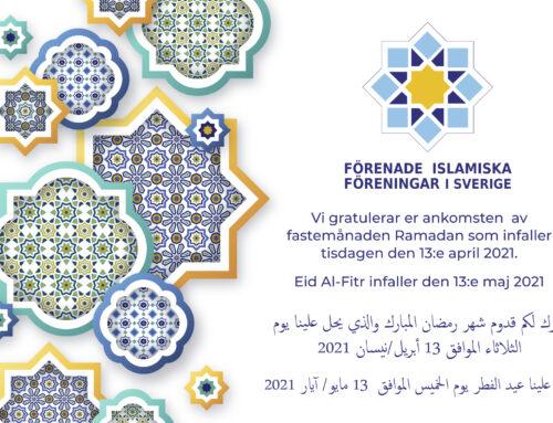 Ramadan infaller den 13:e april 2021